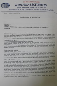 Laporan Auditor Independen 2014